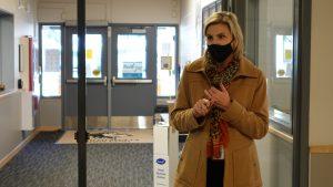 Anchorage School District Superintendent Deena Bishop at Huffman Elementary School on Monday, Nov. 2, 2020.